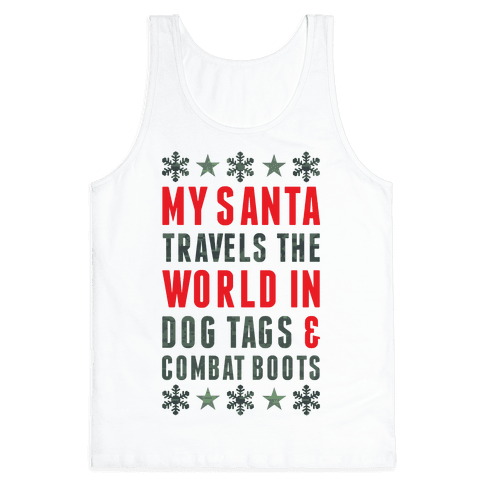 My Military Santa Tank Top