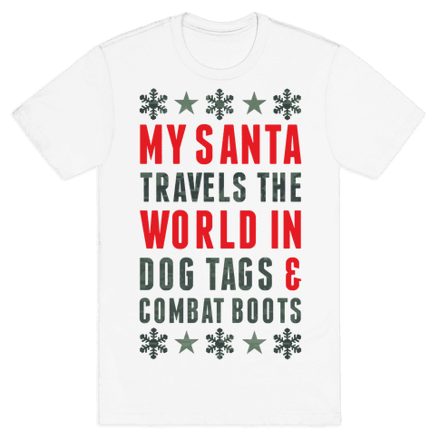 My Military Santa Mens T-Shirt