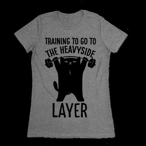 Training To Go To The Heavyside Layer Parody Womens T-Shirt