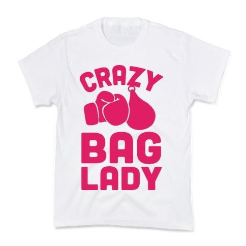 Crazy Bag Lady Kids T-Shirt