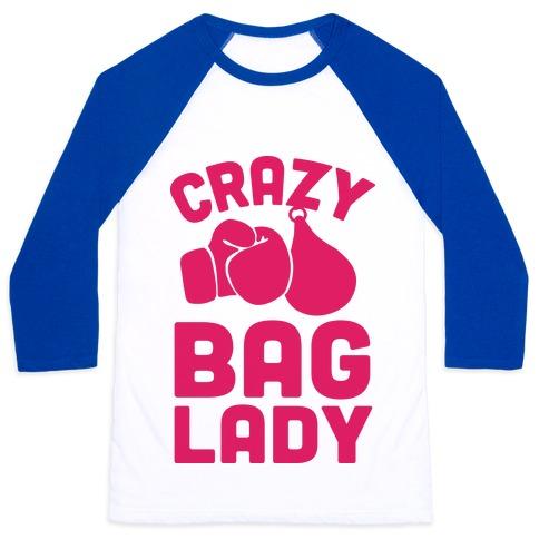 Crazy Bag Lady Baseball Tee