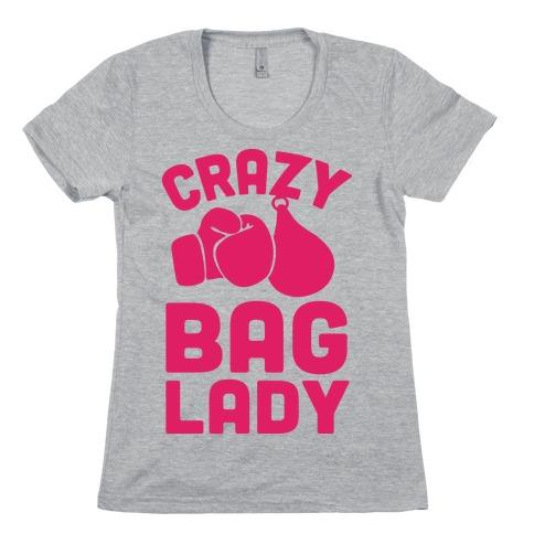 Crazy Bag Lady Womens T-Shirt