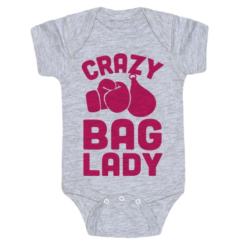 Crazy Bag Lady Baby Onesy
