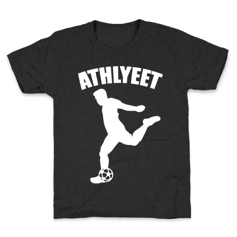 Athlyeet Soccer White Print Kids T-Shirt