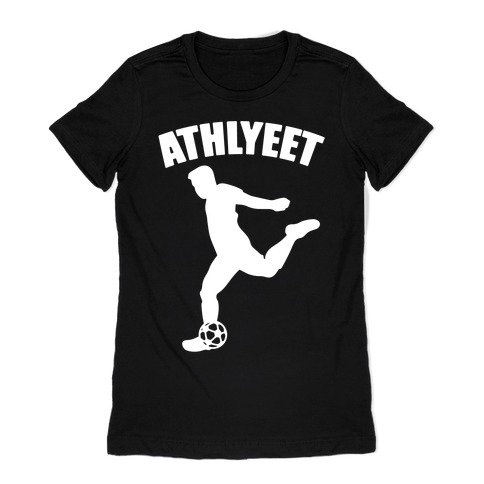Athlyeet Soccer White Print Womens T-Shirt
