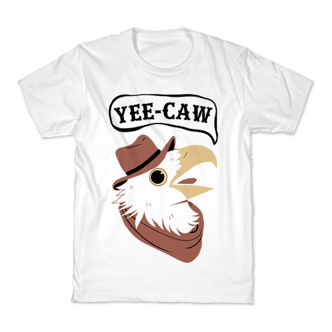 YEE-CAW Bald Eagle Kids T-Shirt