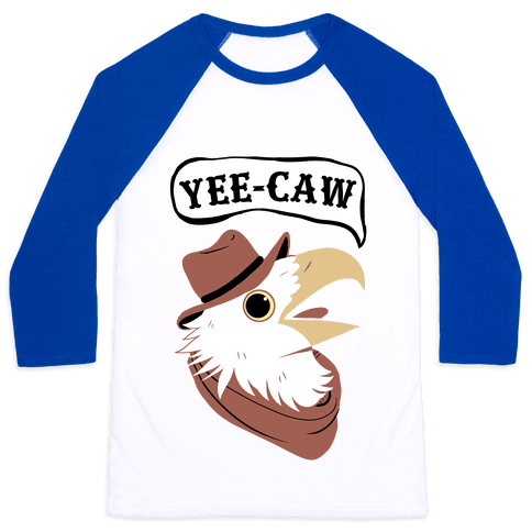 YEE-CAW Bald Eagle Baseball Tee
