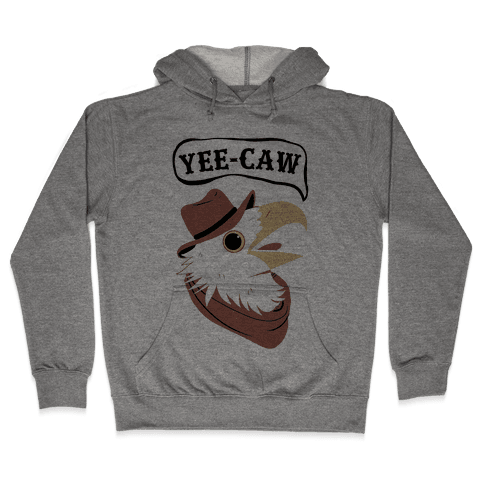 YEE-CAW Bald Eagle Hooded Sweatshirt