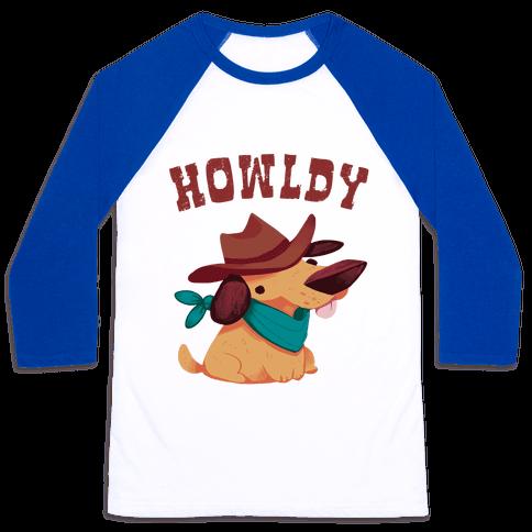 Howldy Baseball Tee