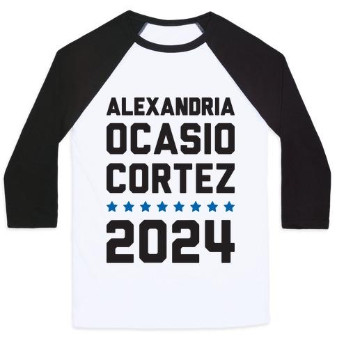 Alexandira Ocasio-Cortez 2024 Baseball Tee