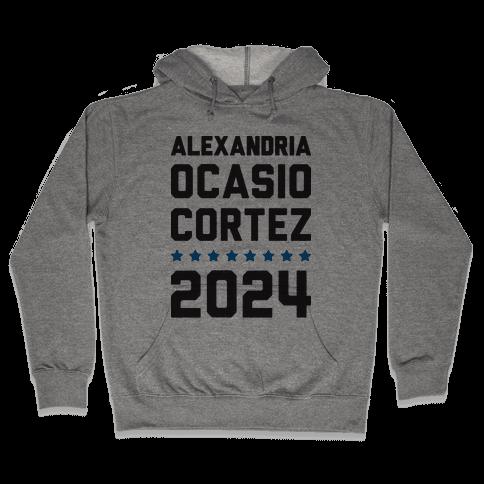 Alexandira Ocasio-Cortez 2024 Hooded Sweatshirt