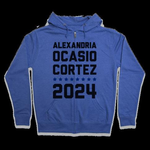 Alexandira Ocasio-Cortez 2024 Zip Hoodie