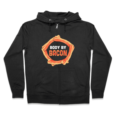 Body By Bacon (Tank) Zip Hoodie