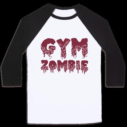 Gym Zombie Baseball Tee