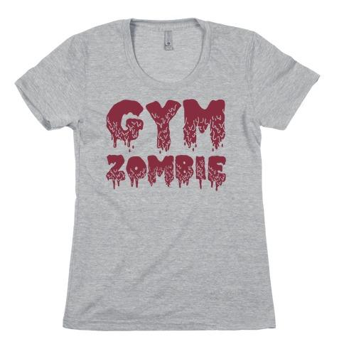 Gym Zombie Womens T-Shirt