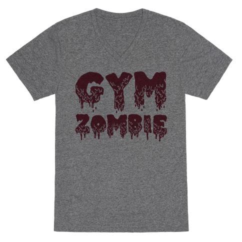 Gym Zombie V-Neck Tee Shirt