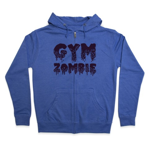 Gym Zombie Zip Hoodie