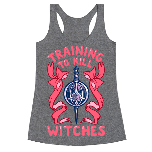 Training To Kill Witches Racerback Tank Top