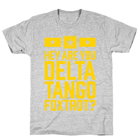 Delta Tango Foxtrot (Army) Mens T-Shirt
