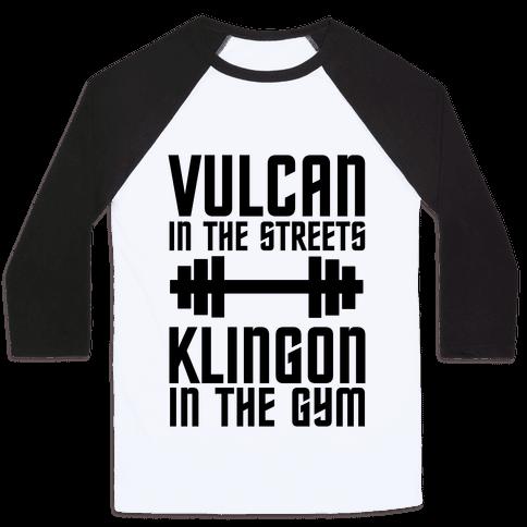 Klingon in the Gym Baseball Tee