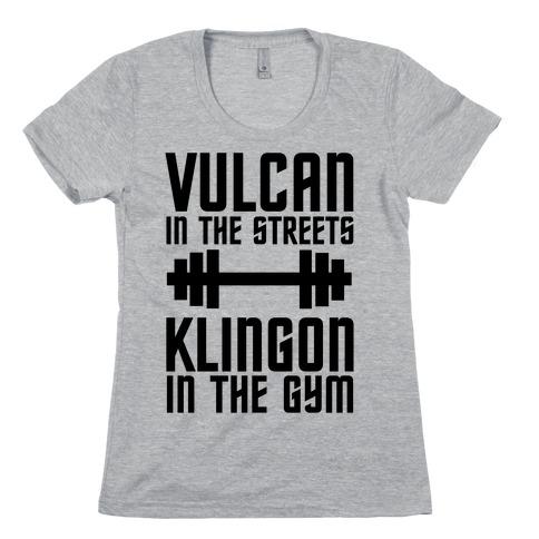 Klingon in the Gym Womens T-Shirt