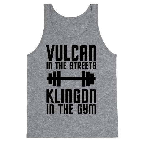 Klingon in the Gym Tank Top