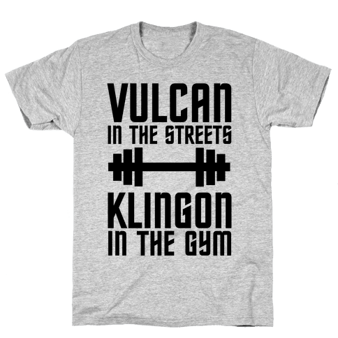 Klingon in the Gym Mens T-Shirt