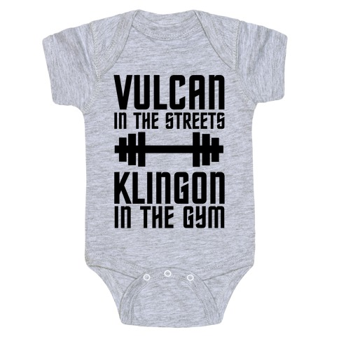 Klingon in the Gym Baby Onesy
