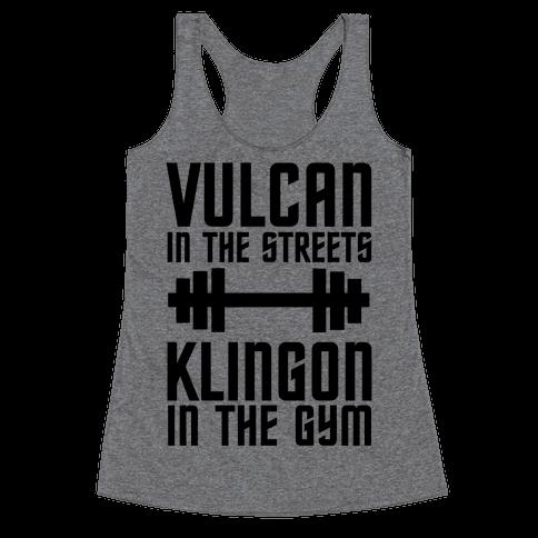 Klingon in the Gym Racerback Tank Top