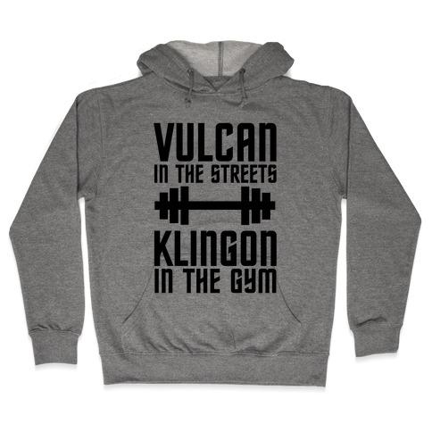 Klingon in the Gym Hooded Sweatshirt
