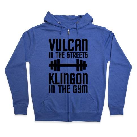 Klingon in the Gym Zip Hoodie