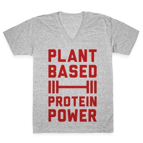Plant Based Protein Power V-Neck Tee Shirt