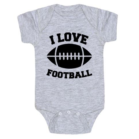I Love Football Baby Onesy