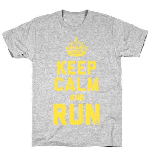 Keep Calm and Run (Dark Tank) T-Shirt