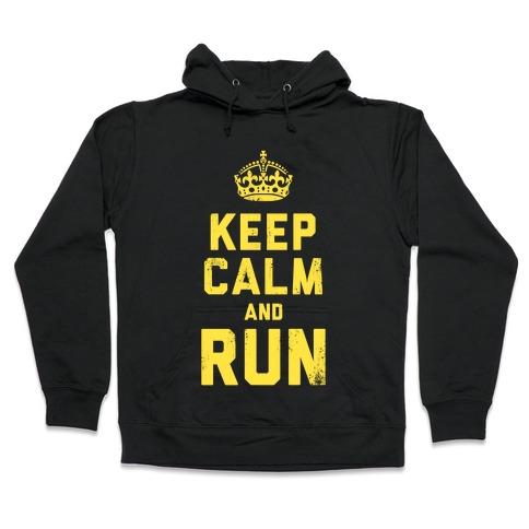 Keep Calm and Run (Dark Tank) Hooded Sweatshirt