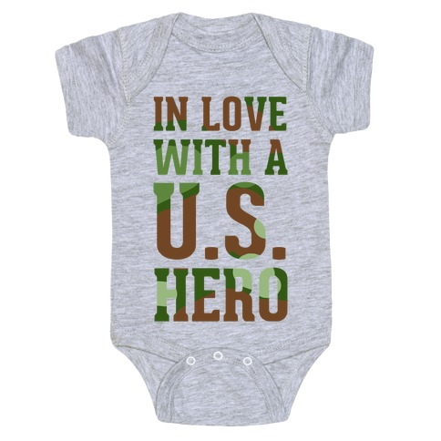 In Love With a U.S. Hero (Military T-Shirt) Baby Onesy