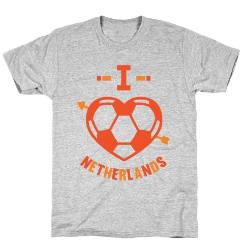 I Love Netherlands (Soccer) Mens T-Shirt