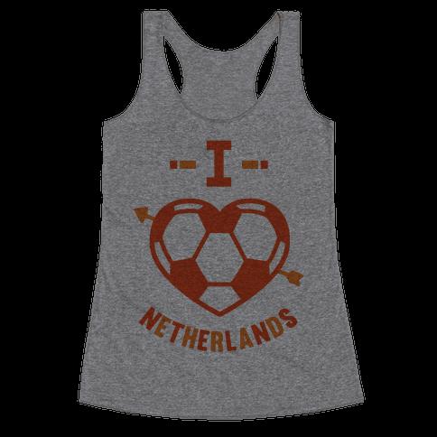 I Love Netherlands (Soccer) Racerback Tank Top