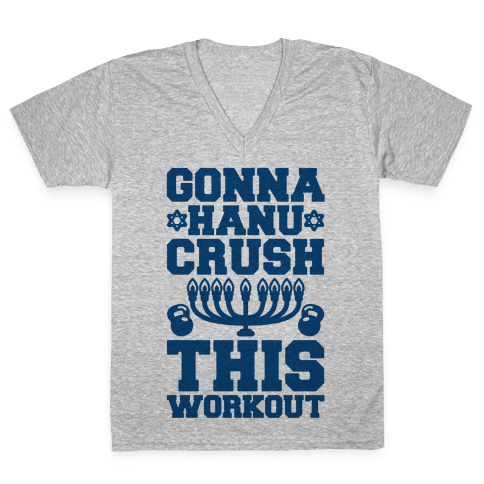 Gonna Hanu-Crush This Workout V-Neck Tee Shirt
