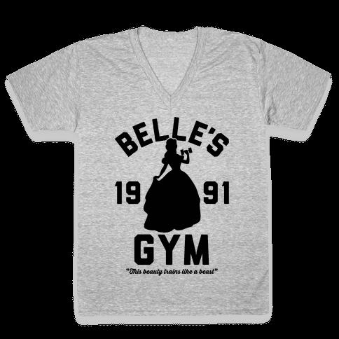 Belle's Gym V-Neck Tee Shirt