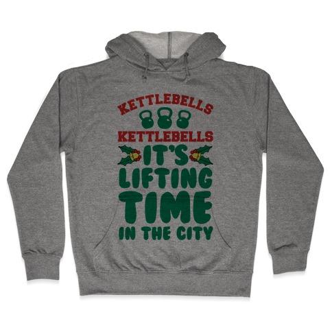 Kettlebells Kettlebells It's Lifting Time in the City Hooded Sweatshirt