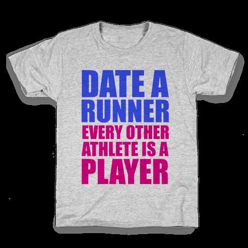 Date a Runner Kids T-Shirt