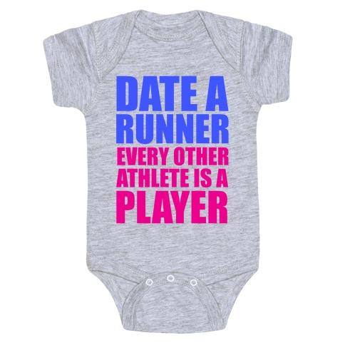 Date a Runner Baby Onesy