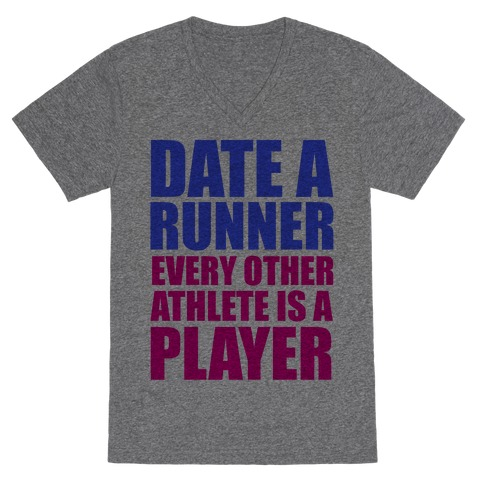 Date a Runner V-Neck Tee Shirt