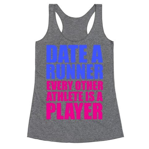 Date a Runner Racerback Tank Top