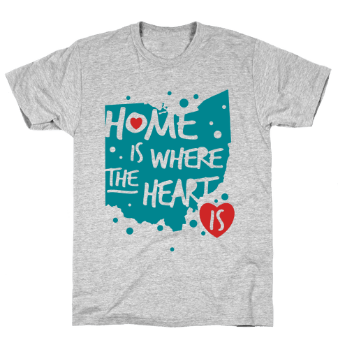 Home Is Where The Heart Is Mens T-Shirt