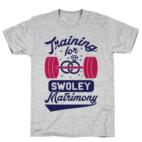 Training For Swoley Matrimony Mens T-Shirt