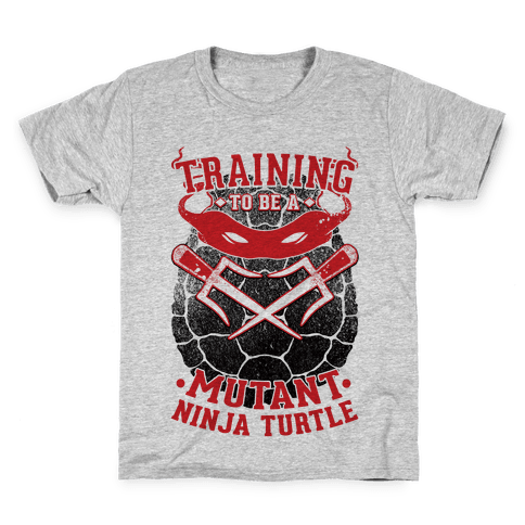 Training To Be A Mutant Ninja Turtle Kids T-Shirt