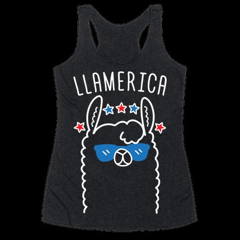 Llamerica American Llama Racerback Tank Top