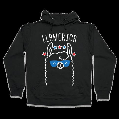Llamerica American Llama Hooded Sweatshirt